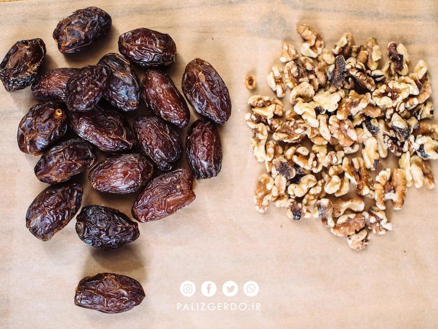 خواص مصرف خرما همراه با گردو برای سلامتی